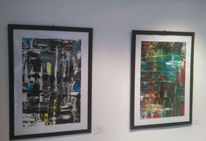 Modern art, Abstrakt, Acrylmalerei, Mischtechnik