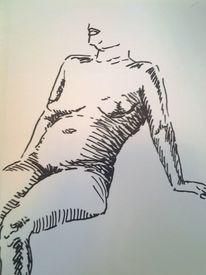 Farben, Frau, Akt, Zeichnungen