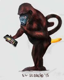 Figural, Monster, Handy, Smartphone