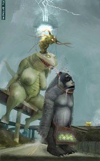 Außerirdisch, Zerstörung, Affe, Freak