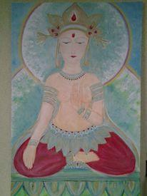 Elemente, Göttin, Natur, Malerei