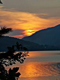 See, Natur, Sonnenuntergang, Wasser