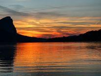 Natur, Sonnenuntergang, See, Wasser