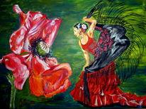 Flamenco, Rot, Leidenschaft, Malerei