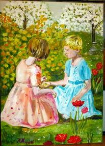 Ranunkelstrauch, Malerei, Tulpen, Natur