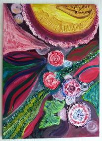 Acrylmalerei, Strukturpaste, Abstrakt, Malerei