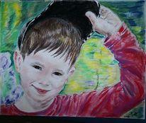 Kind, Sommer, Lächeln, Zeichnungen