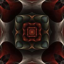 Fraktalkunst, Kaleidoskop, Ornament, Digitale kunst