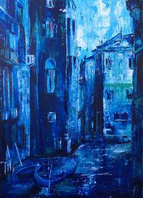 Stadt, Malerei, Stadtlandschaft,