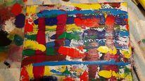Abstrakt, Farben, Ordnung im chaos, Malerei