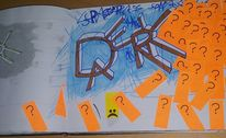 Reflexion, Farben, Tagebuch, Mischtechnik