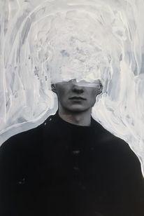 Gesicht, Schwarz weiß, Kontrast, Traum