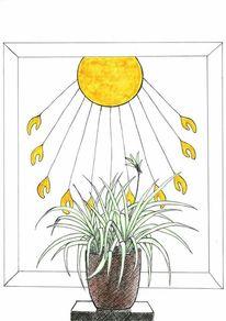 Sonne, Pflanzen, Ägypten, Zeichnungen