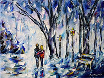 Winter, Winterlandschaft, Winterpark, Liebespaar