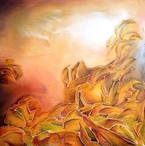 Acrylmalerei, Abstrakt, Blätter, Herbst