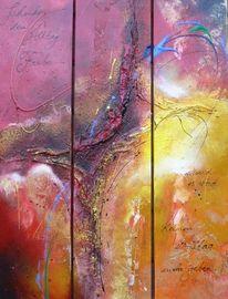 Abstrakt, Struktur, Acrylmalerei, Bunt