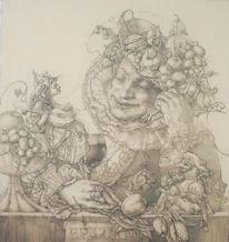Muse, Früchte, Barock, Blumen