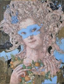 Sanssouci, Karneval, Frauengestalt, Maske