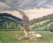 Wiese, Landschaft, Himmel, Malerei