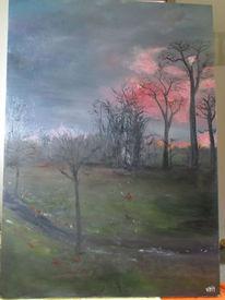 Abendhimmel, Steinweg, Malerei,
