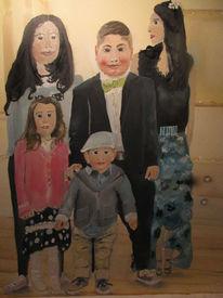 Abstrakt, Figurativ, Enkelkinder, Malerei