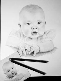 Kind, Portrait, Zeichnungen,