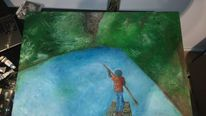 Mystik, Natur, Fluss, Malerei