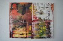 Abstrakt, Acrylmalerei, Rakeltechnik, Malerei