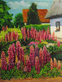 Lupinen, Natur, Malerei, Pflanzen