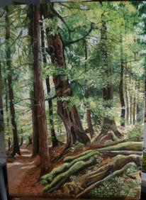 Sommer, Ölmalerei, Thüringer wald, Malerei