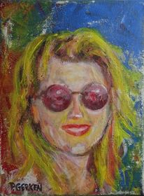 Malerei, Frau, Portrait, Farben