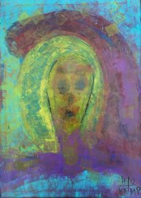 Portrait, Malerei, Abstrakt