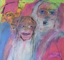 Malerei, Abstrakt, Merkwürdige gestalten