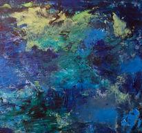 Ausschnitt, Malerei, Abstrakt, Spachelarbeit