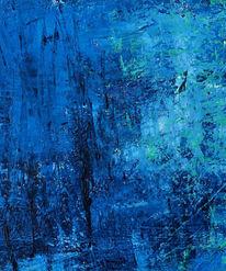 Malerei, Blau, Kälte, Winter