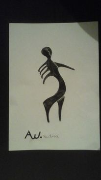 Abstrakt, Zeichnung, Mischtechnik, Zeichnungen