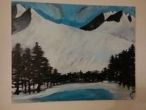 Acrylmalerei, Schwarz weiß, Malerei, Farben