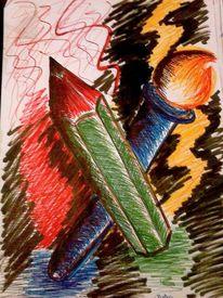 Pinsel, Werkzeug, Bleistiftzeichnung, Zeichnungen