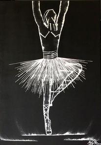 Abstrakt, Schwarz, Malerei, Ballerina