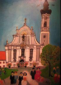 Naive malerei, Hochzeit, Ammersee, Diessen