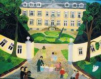 Naive malerei, Schloss, Morsbroich, Menschen