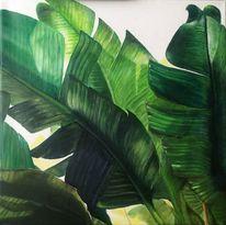 Bananenblatt, Bananenblätter, Ölmalerei, Malerei