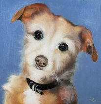 Tiere, Rüde, Hund, Malerei