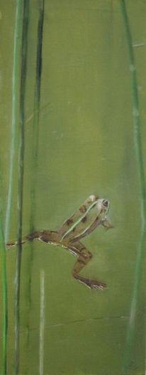 Natur, Teich, Tiere, Malerei