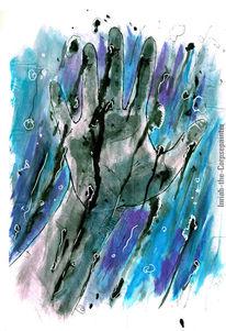 Ozean, Isolation, Hand, Wasser