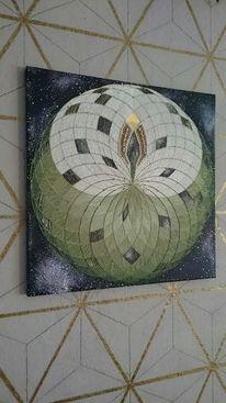 Collage, Blumen, Universum, Herz