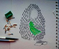 Grün, Zeichnung, Schwarz, Natur