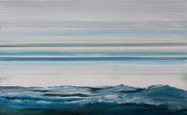 Malerei, Blau, Meer