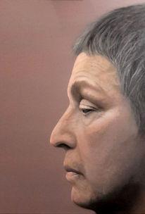 Grau, Portrait, Ölmalerei, Gesicht