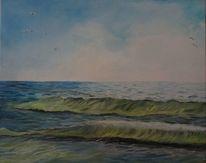 Welle, Wasser, Rügen, Himmel